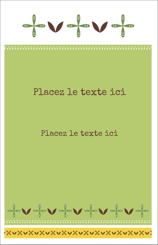 """8½"""" x 11"""" Binder Insert Reliures - Fleurs vertes géométriques"""