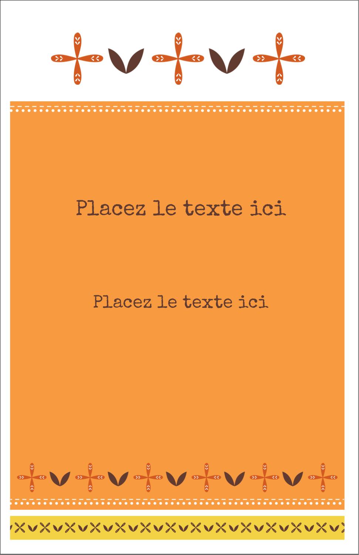 """8½"""" x 11"""" Binder Insert Reliures - Fleurs orange géométriques"""