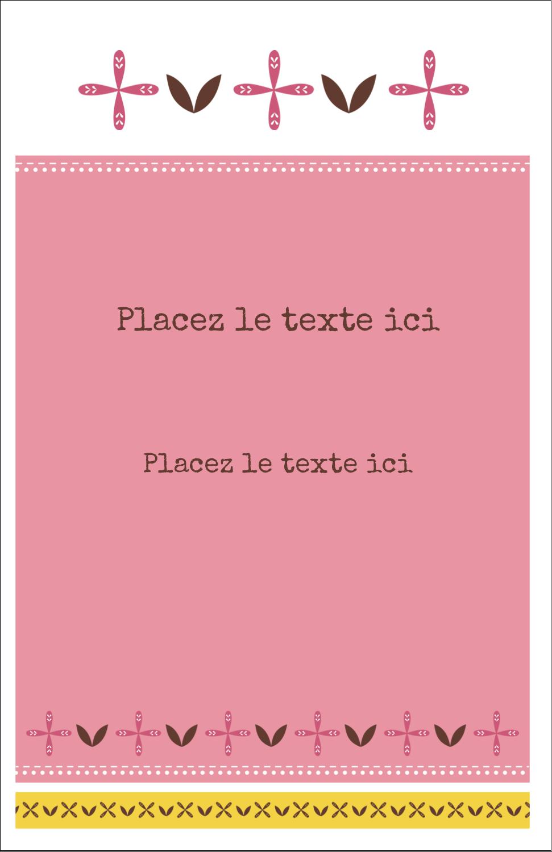 """8½"""" x 11"""" Binder Insert Reliures - Fleurs roses géométriques"""