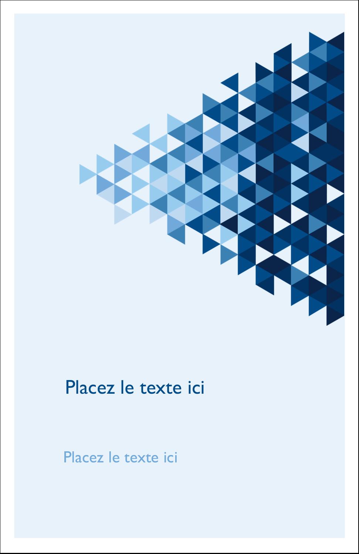 """8½"""" x 11"""" Binder Insert Reliures - Angles bleus"""