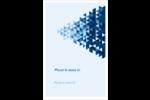 Angles bleus  Reliures - gabarit prédéfini. <br/>Utilisez notre logiciel Avery Design & Print Online pour personnaliser facilement la conception.