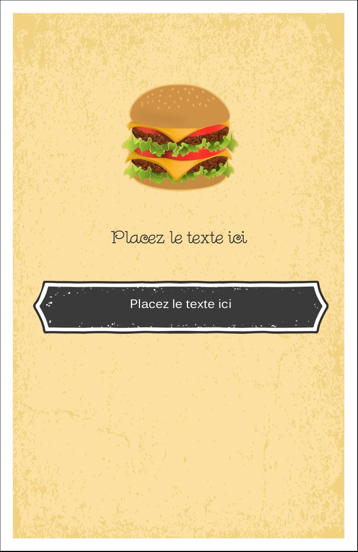 "8½"" x 11"" Binder Insert Reliures - Hamburger"