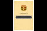 Hamburger Reliures - gabarit prédéfini. <br/>Utilisez notre logiciel Avery Design & Print Online pour personnaliser facilement la conception.