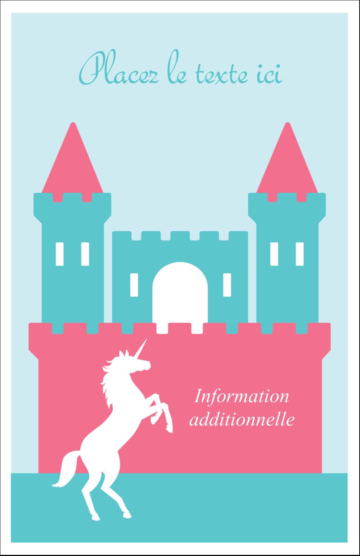 "8½"" x 11"" Binder Insert Reliures - Château"