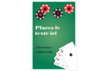 Partie de poker Reliures - gabarit prédéfini. <br/>Utilisez notre logiciel Avery Design & Print Online pour personnaliser facilement la conception.