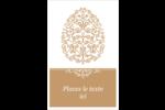Œuf de Pâques de couleur bronze Reliures - gabarit prédéfini. <br/>Utilisez notre logiciel Avery Design & Print Online pour personnaliser facilement la conception.