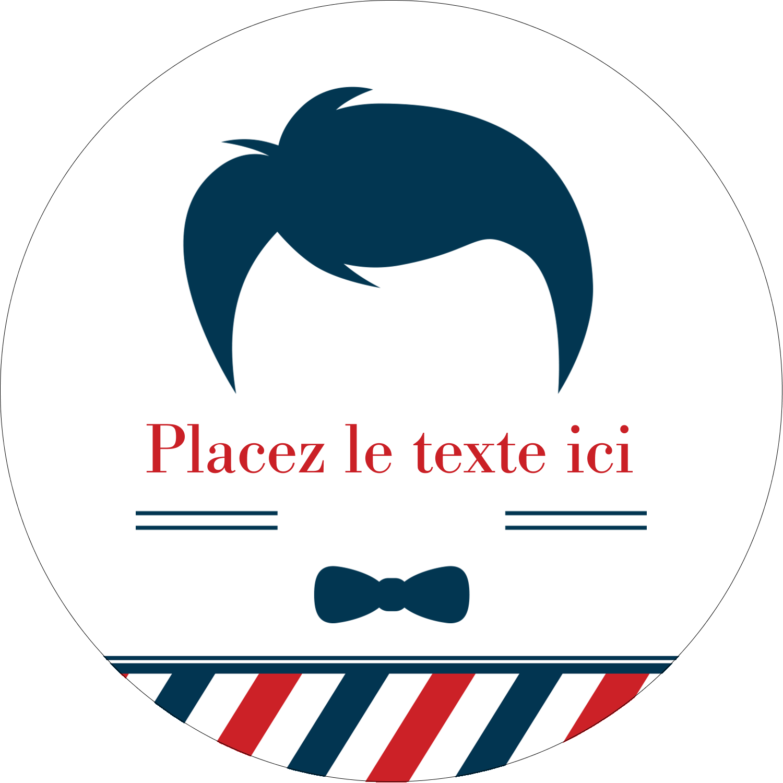 """2¼"""" x ¾"""" Étiquettes Voyantes - Salon de barbier"""