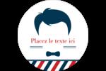 Salon de barbier Étiquettes Voyantes - gabarit prédéfini. <br/>Utilisez notre logiciel Avery Design & Print Online pour personnaliser facilement la conception.
