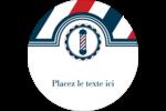 Enseigne de barbier audacieuse Étiquettes Voyantes - gabarit prédéfini. <br/>Utilisez notre logiciel Avery Design & Print Online pour personnaliser facilement la conception.