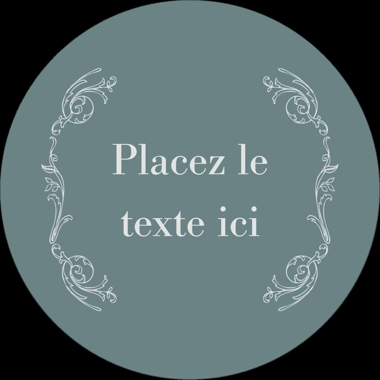 """2¼"""" x ¾"""" Étiquettes Voyantes - Cachet français"""