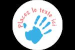 Mains enfantines Étiquettes Voyantes - gabarit prédéfini. <br/>Utilisez notre logiciel Avery Design & Print Online pour personnaliser facilement la conception.