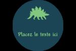 Dinosaure Étiquettes Voyantes - gabarit prédéfini. <br/>Utilisez notre logiciel Avery Design & Print Online pour personnaliser facilement la conception.