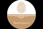 Œuf de Pâques de couleur bronze Étiquettes Voyantes - gabarit prédéfini. <br/>Utilisez notre logiciel Avery Design & Print Online pour personnaliser facilement la conception.