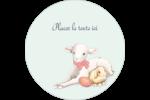 Agneau de Pâques mignon Étiquettes Voyantes - gabarit prédéfini. <br/>Utilisez notre logiciel Avery Design & Print Online pour personnaliser facilement la conception.