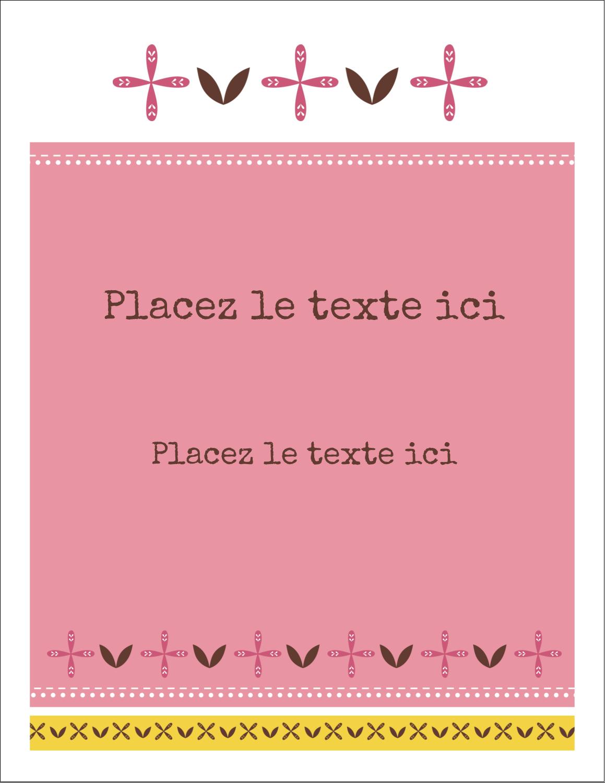 """8½"""" x 11"""" Intercalaires / Onglets - Fleurs roses géométriques"""