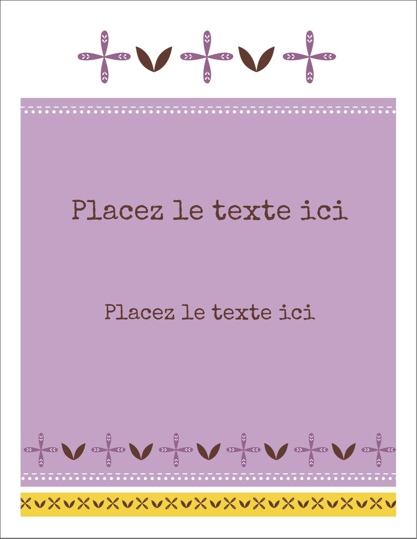 """8½"""" x 11"""" Intercalaires / Onglets - Lavande géométrique"""