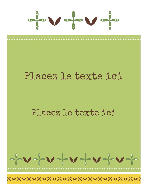 """2"""" x 3½"""" Cartes Pour Le Bureau - Fleurs vertes géométriques"""
