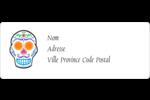 Le jour du Crâne Étiquettes D'Adresse - gabarit prédéfini. <br/>Utilisez notre logiciel Avery Design & Print Online pour personnaliser facilement la conception.