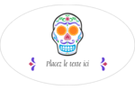 Le jour du Crâne Étiquettes carrées - gabarit prédéfini. <br/>Utilisez notre logiciel Avery Design & Print Online pour personnaliser facilement la conception.