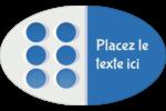 4e étage  Étiquettes carrées - gabarit prédéfini. <br/>Utilisez notre logiciel Avery Design & Print Online pour personnaliser facilement la conception.