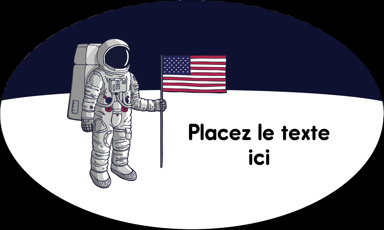 """1½"""" x 1½"""" Étiquettes carrées - Astronaute"""
