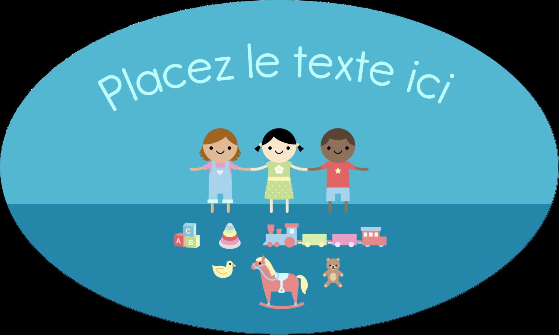 """1½"""" x 1½"""" Étiquettes carrées - Éducation et préscolaire"""