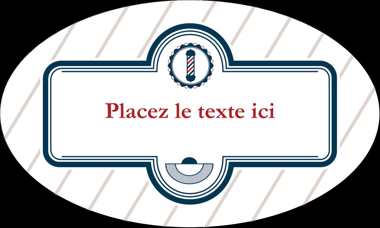 """1½"""" x 1½"""" Étiquettes carrées - Enseigne de barbier"""