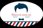 Salon de barbier Étiquettes carrées - gabarit prédéfini. <br/>Utilisez notre logiciel Avery Design & Print Online pour personnaliser facilement la conception.