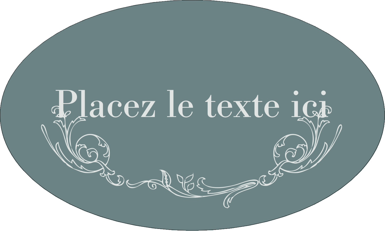"""1½"""" x 1½"""" Étiquettes carrées - Cachet français"""