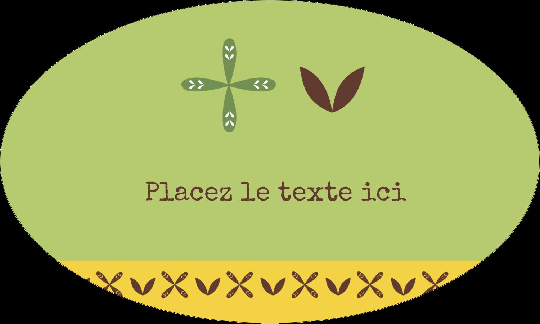 """1½"""" x 1½"""" Étiquettes carrées - Fleurs vertes géométriques"""