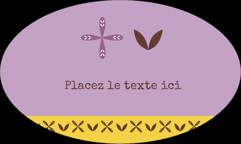 """1½"""" x 1½"""" Étiquettes carrées - Lavande géométrique"""