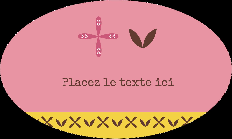 """1½"""" x 1½"""" Étiquettes carrées - Fleurs roses géométriques"""