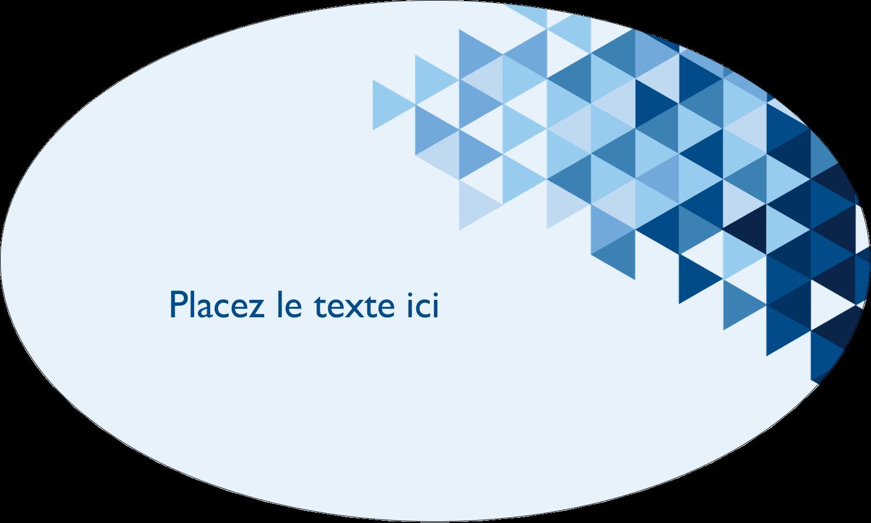 """1½"""" x 1½"""" Étiquettes carrées - Angles bleus"""