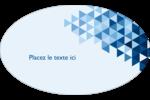 Angles bleus  Étiquettes carrées - gabarit prédéfini. <br/>Utilisez notre logiciel Avery Design & Print Online pour personnaliser facilement la conception.