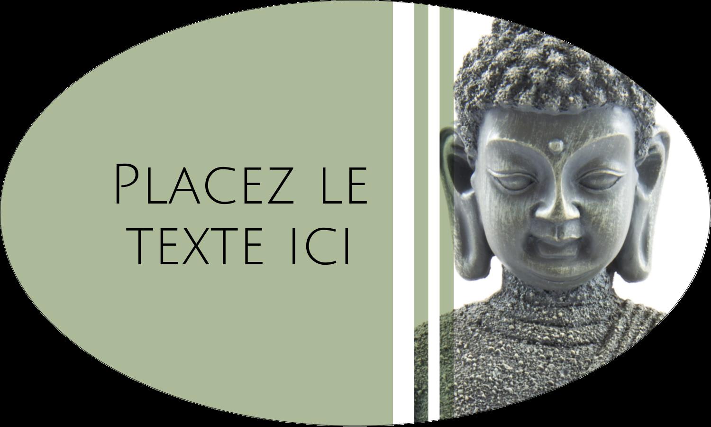 """1½"""" x 1½"""" Étiquettes carrées - Bouddha"""