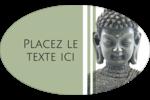 Bouddha Étiquettes carrées - gabarit prédéfini. <br/>Utilisez notre logiciel Avery Design & Print Online pour personnaliser facilement la conception.