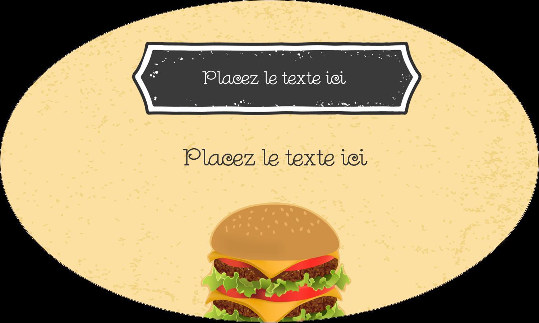 """1½"""" x 1½"""" Étiquettes carrées - Hamburger"""