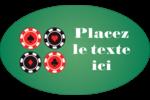 Partie de poker Étiquettes carrées - gabarit prédéfini. <br/>Utilisez notre logiciel Avery Design & Print Online pour personnaliser facilement la conception.