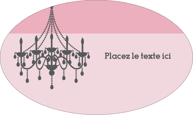 """1½"""" x 1½"""" Étiquettes carrées - Chandelier"""