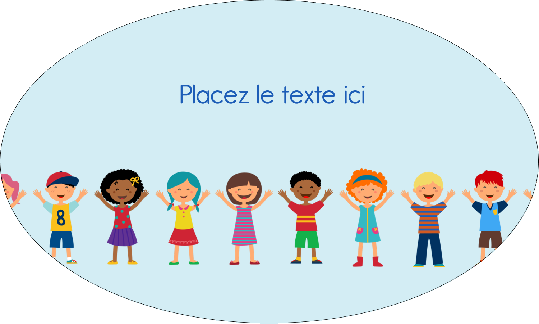 """1½"""" x 1½"""" Étiquettes carrées - Éducation des enfants"""
