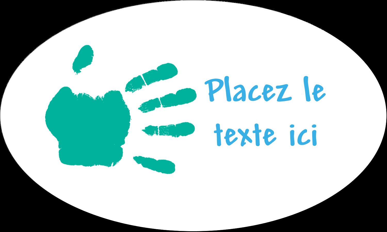 """1½"""" x 1½"""" Étiquettes carrées - Mains enfantines"""