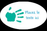 Mains enfantines Étiquettes carrées - gabarit prédéfini. <br/>Utilisez notre logiciel Avery Design & Print Online pour personnaliser facilement la conception.