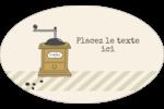L'heure du café Étiquettes carrées - gabarit prédéfini. <br/>Utilisez notre logiciel Avery Design & Print Online pour personnaliser facilement la conception.