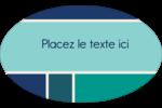Bloc de couleur Étiquettes carrées - gabarit prédéfini. <br/>Utilisez notre logiciel Avery Design & Print Online pour personnaliser facilement la conception.