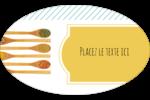 Cuillères Étiquettes carrées - gabarit prédéfini. <br/>Utilisez notre logiciel Avery Design & Print Online pour personnaliser facilement la conception.
