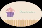 Petit gâteau Étiquettes carrées - gabarit prédéfini. <br/>Utilisez notre logiciel Avery Design & Print Online pour personnaliser facilement la conception.
