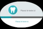 Dent Étiquettes carrées - gabarit prédéfini. <br/>Utilisez notre logiciel Avery Design & Print Online pour personnaliser facilement la conception.