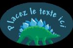 Dinosaure Étiquettes carrées - gabarit prédéfini. <br/>Utilisez notre logiciel Avery Design & Print Online pour personnaliser facilement la conception.