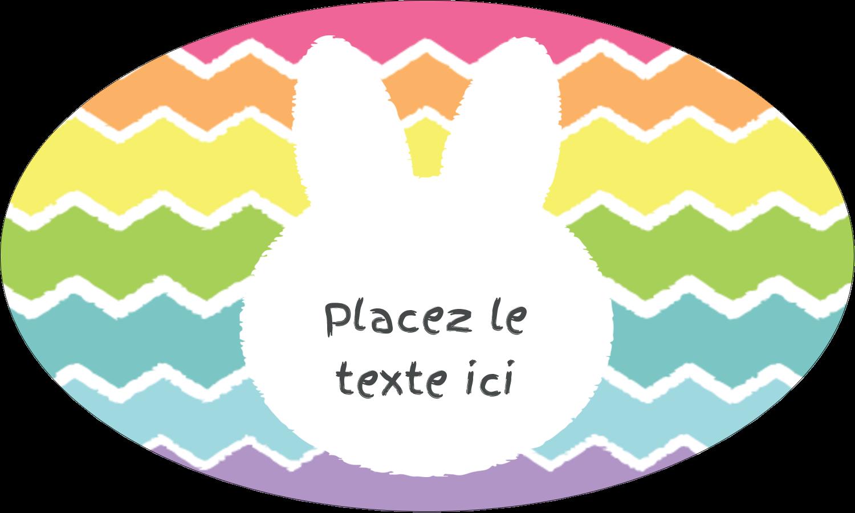 """1½"""" x 1½"""" Étiquettes carrées - Lapin Bonbon"""