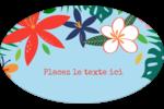 Plantes tropicales Étiquettes carrées - gabarit prédéfini. <br/>Utilisez notre logiciel Avery Design & Print Online pour personnaliser facilement la conception.